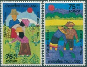 Thailand-1980-SG1014-1015-Childrens-Day-set-MNH