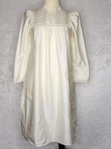 Vintage Christian Dior Long Night Gown Ivory Victo