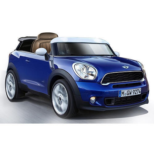 Mini Cooper Paceman bluee Powered Ride On Toy Car Real Real Real Sounds LED Lights 6 Volt 87cd40