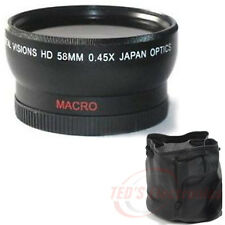 Wide Angle .45X lens w/ MACRO for CANON Rebel EOS 18-55mm 75-300mm 55-250mm