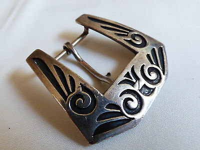 SIlver plated metal Southwest design fashion small belt buckle