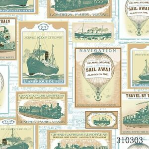 Image Is Loading New Travel Stamps Train Ship Amp Hot Air