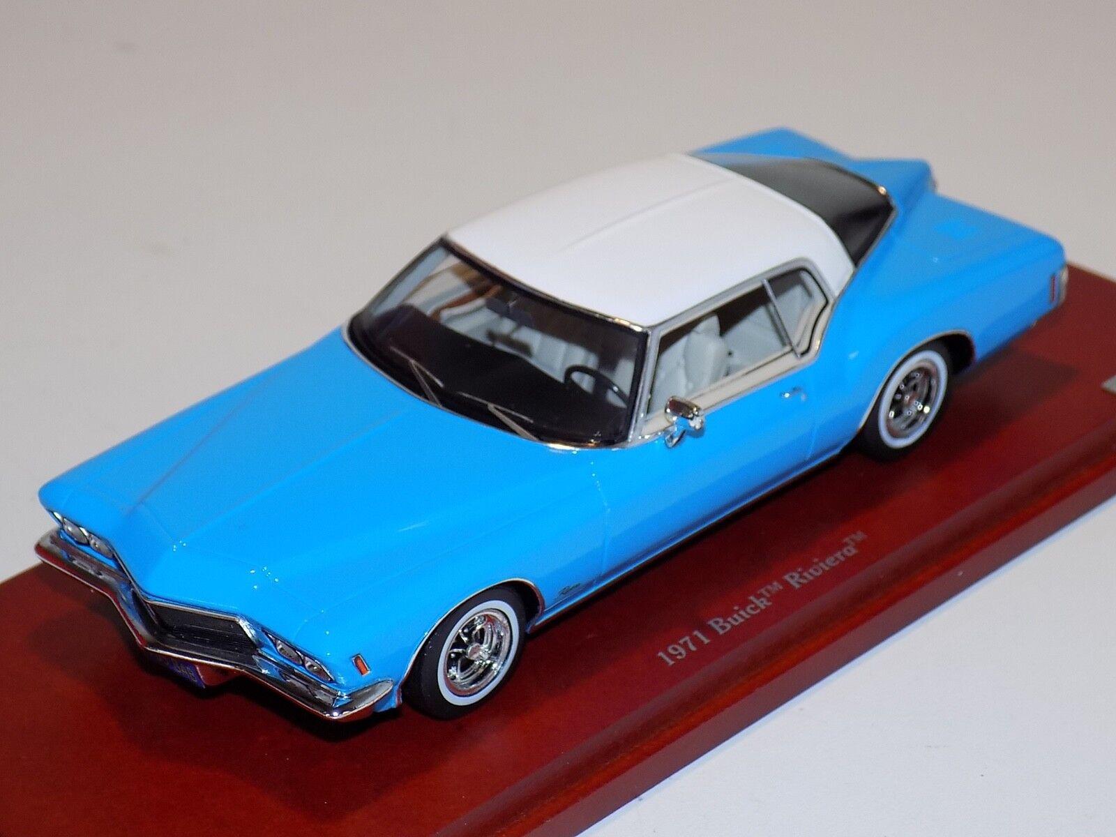 1 43 1971 Buick Riviera True Scale TSM en blu TSM 114333