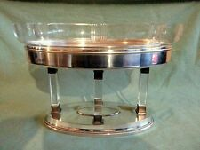 ANTIQUE SECESSIONIST ART DECO WMF CENTERPIECE JARDINIERE CRYSTAL FLOWER DISH