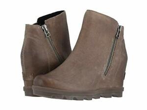 free shipping innovative design limited guantity NIB SOREL Women's Joan of Arctic Wedge II Zip Leather Boots in Ash ...