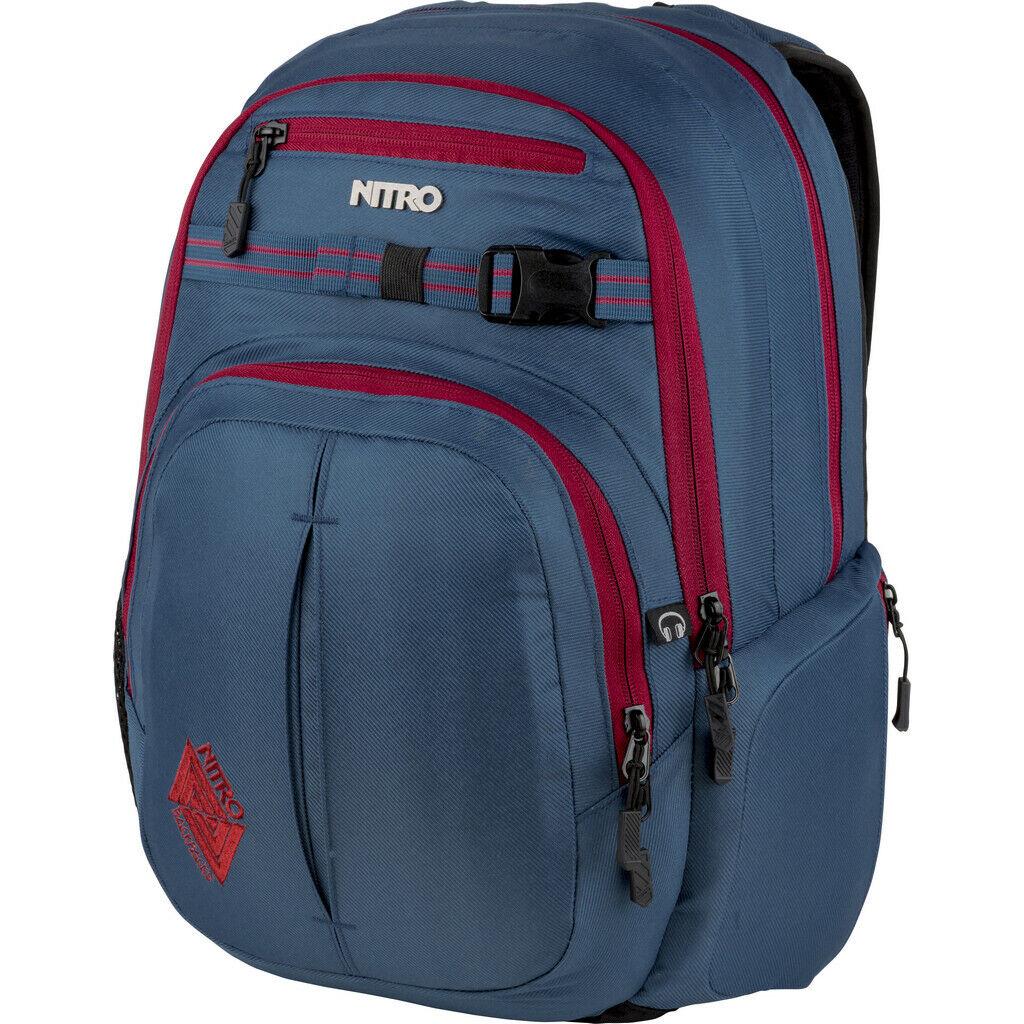 Nitro Chase Rucksack Blau Steel Backpack Tasche Schulrucksack 35 Liter NITRO