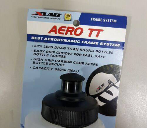 Carbon Cage + 590mL BPA Free Bottle XLab Bottle Set Aero TT System Clear Black