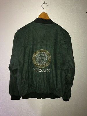 Versace Jeans Couture Jacket Bomber Vintage Gianni Rare 90s Military Green Coat Ebay