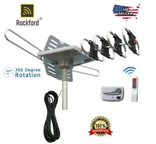 200MILES OUTDOOR TV ANTENNA MOTORIZED AMPLIFIED HDTV HIGH GAIN 36dB  UHF VHF