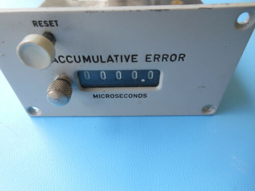 Presin Co MICROSECONDS COUNTER  24V F160.55 N ACCUMULATIVE ERROR