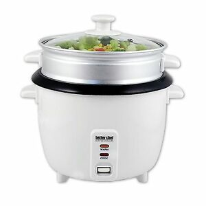 Better Chef 10-cup Rice Cooker Food/Vegetable Steamer non ...
