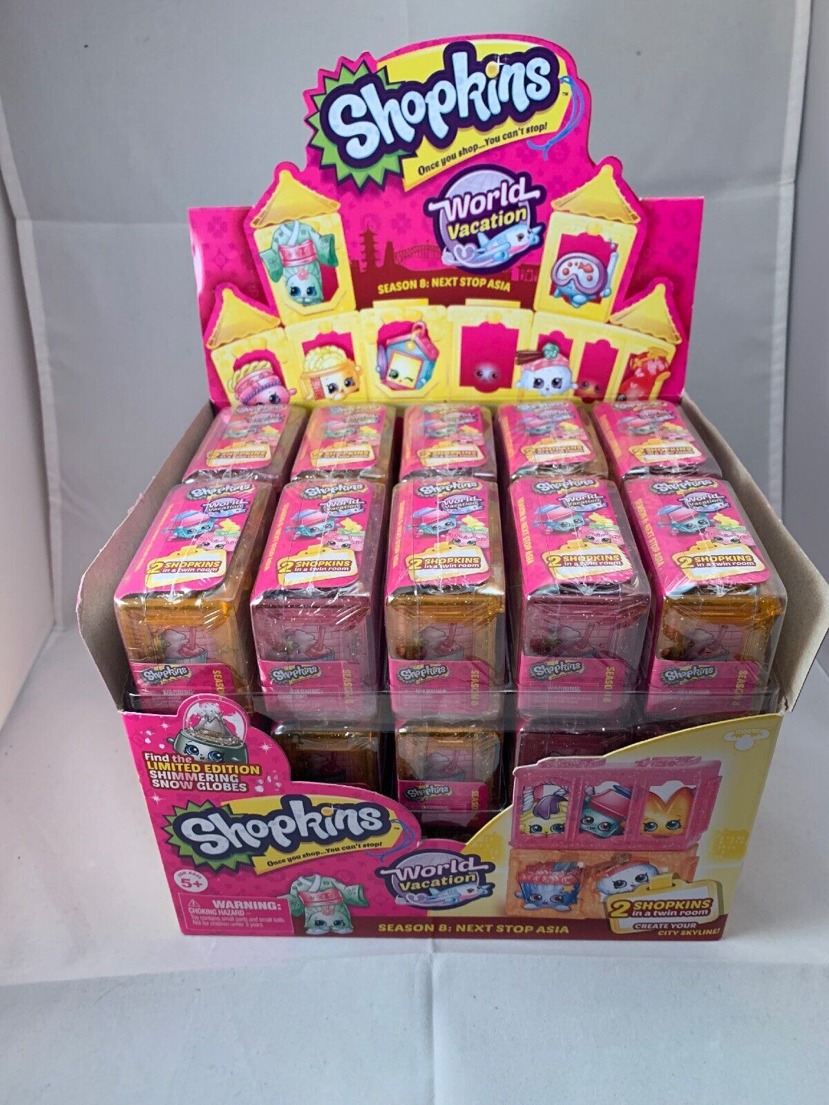 New Case Lot of 30 2 Pack Shopkins Season 8 World Vacation Next Stop Asia Blind