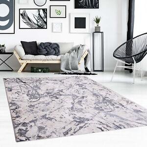 Teppich Flachflor Abstrakt Modern Beige Wohnzimmer | eBay