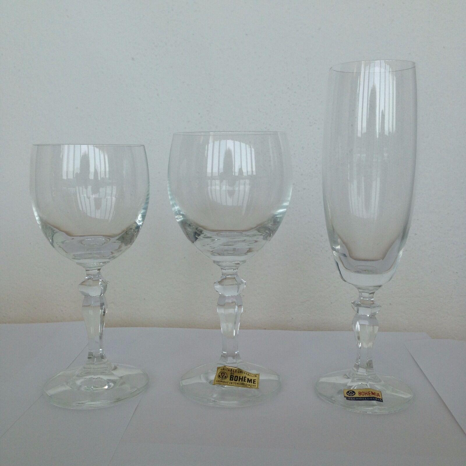 Cristalería de Bohemia. 36 piezas
