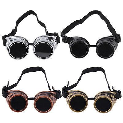 Cyber Goggles Steampunk Glasses Vintage Retro Welding Punk Gothic Victorian FSS