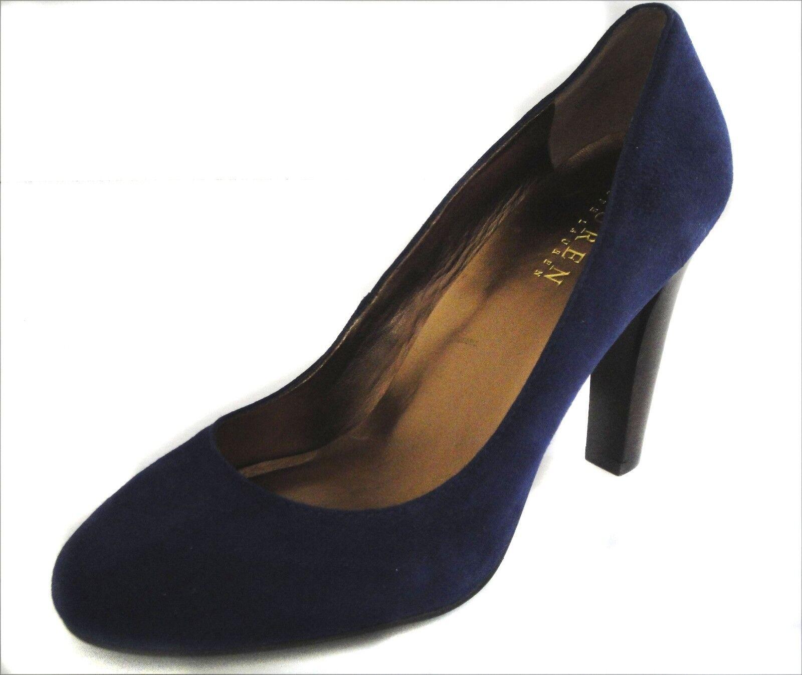 NEU WOMEN'S LAUREN RALPH LAUREN RYLIE DK SAPPHIRE SUEDE Schuhe SZ 6