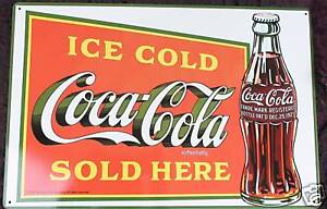 Coca-Cola-Coke-Nostalgie-Blechschild-30x45cm-Deko-Bar-Gastro