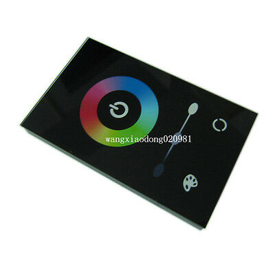 Touch Panel Controller Dimmer Wall Switch Ring 12-24V 12A for RGB LED Strip 08U