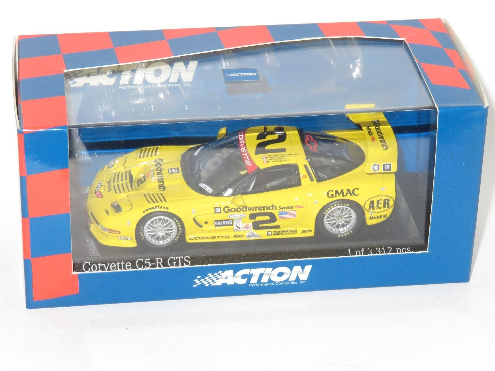 1 43 Chevrolet Corvette C5-R GTS GTS GTS ganadores Daytona 24 HRS 2001  2 0fd18e