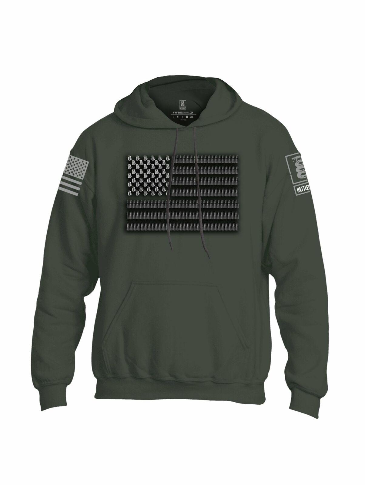 Battleraddle Intimidator .50 Cal Freedom Flag Grey Sleeve Print Mens Blended Hoo