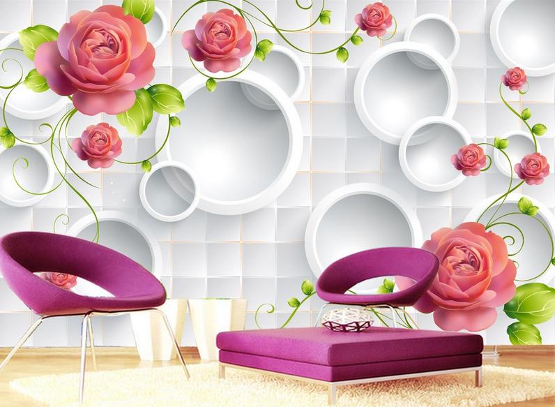 3D Rosan Blaumen Ring 84 Tapete Wandgemälde Tapete Tapeten Bild Bild Bild Familie DE Summer | Der neueste Stil  | Optimaler Preis  | Ausgezeichnete Qualität  82bfe6