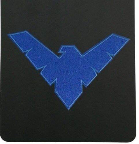 """DC Comics NIGHTWING LOGO 3.5/"""" Embroidered Sewn//Iron On Patch"""