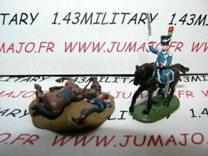 SOLDAT-de-plomb-DEL-PRADO-1-50-AUSTERLITZ-Napoleon-lot-n-45-2-cavaliers