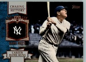 2013 Topps Chasing History #CH-11 Babe Ruth - New York Yankees