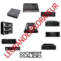 Ultimate Crest Audio Owner, Repair Service Schematics Manuals  150 manual on DVD
