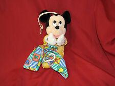 Disney Mickey Mouse Plush Applause Musical Crib Pull Toy Baby Nursery Decor