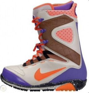Nike-Zoom-Kaiju-Moab-Snowboard-Boots-Orange-Grey-Purple-376276-041-Sz-8-SBB