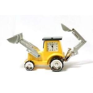 Miniature-JCB-Digging-Truck-Ornamental-Novelty-Collectors-Clock-9682