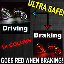 Motorcycle H.D LED UnderGlow Lighting Kit For Harley Davidson w Brake Feature