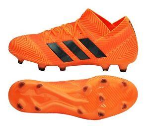 Adidas Men NEMEZIZ 18.1 FG Cleats Orange Soccer Football Shoes ...