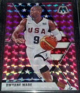 DWYANE-WADE-2019-20-Panini-Mosaic-Pink-Camo-Prizm-Team-USA-Miami-Heat