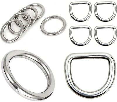 FLAT WELDED O-Rings ~ 12.5mm inner dia ~ Small Metal Alloy Leathercraft BUCKLES