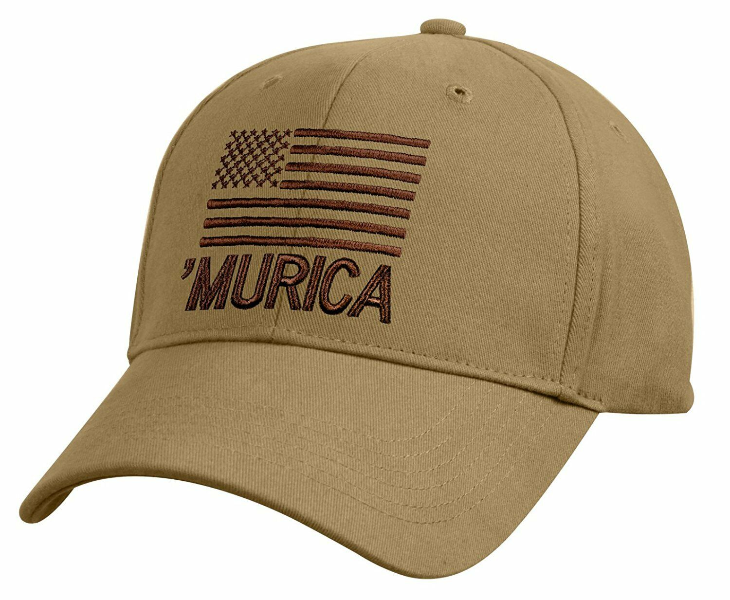 Details about Rothco 9900 Deluxe Murica Low Profile Cap - Coyote Brown 980af372ab0d