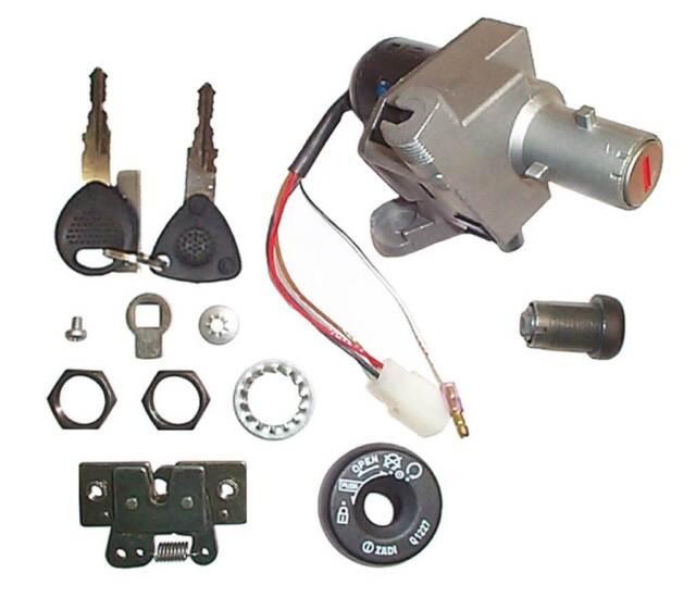 V PARTS Set kit antivol clés  DERBI Atlantis H2O/O2 50 (1999-2002)