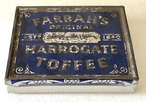 Vintage-Farrah-039-s-Original-Harrogate-English-Toffee-Advertising-Small-Tin-Box