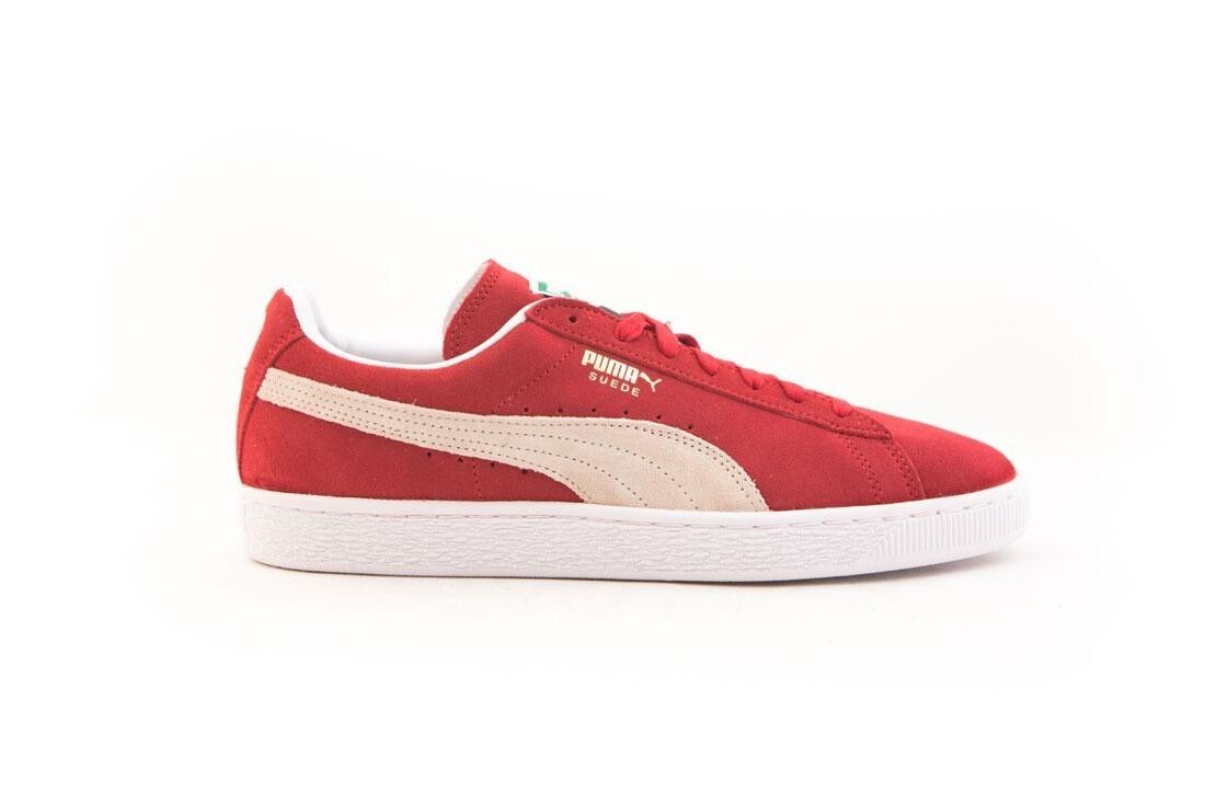 $59.00 Puma Men Suede white Classic red high risk red white Suede 352634-65 ea8d71