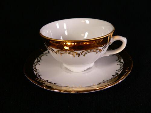 Gold 24 Karat Tirschenreuth Mokkagedeck 2tlg weiß