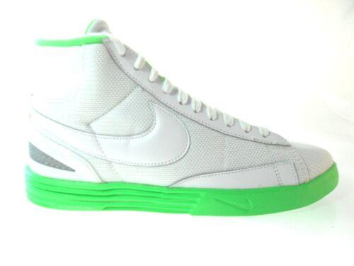 NIKE LUNAR BLAZER MEN/'S WHITE//GREEN SHOES SZ 11.5 #555029-101
