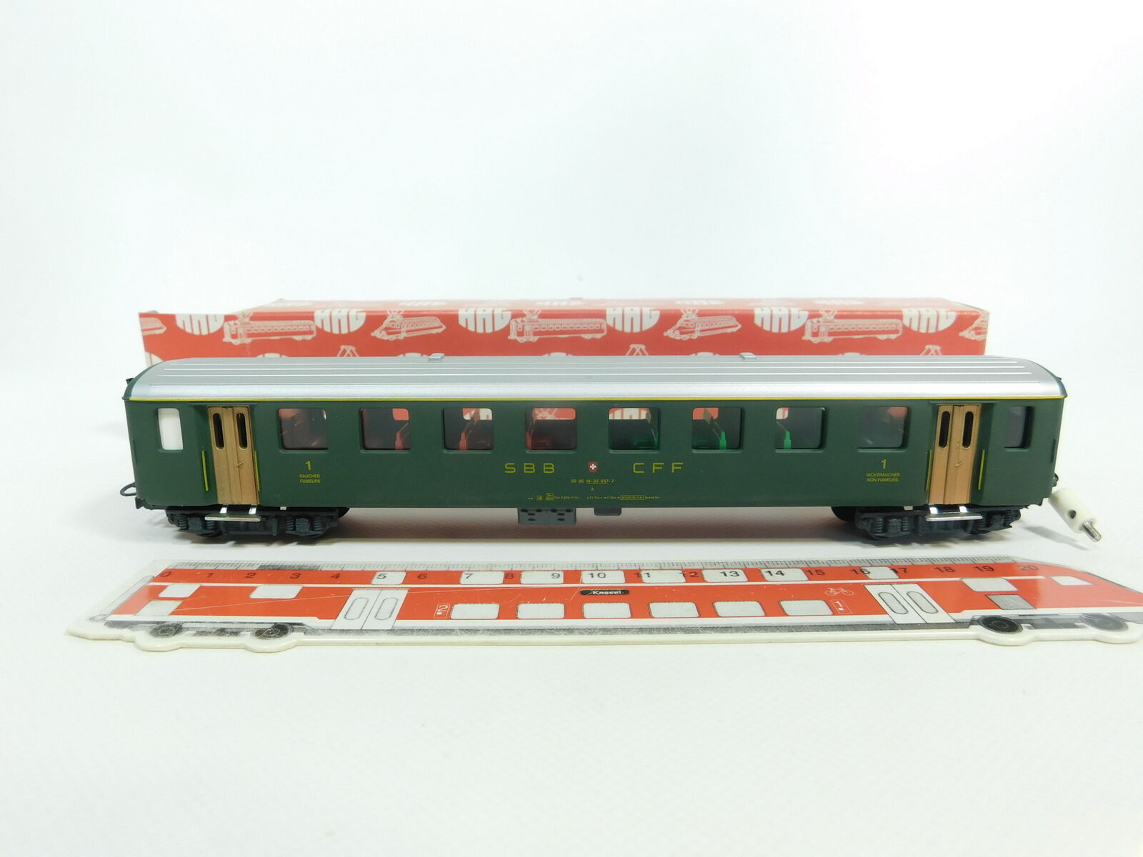 Bd119-0, 5  hag h0 ac 415 a los turismos 1. clase SBB CFF iluminado muy bien + embalaje original