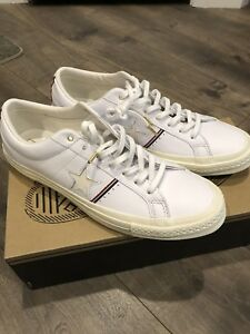 36a67341cbd New Converse One Star OX Low Top Leather Sneakers Thom Browne Strip ...