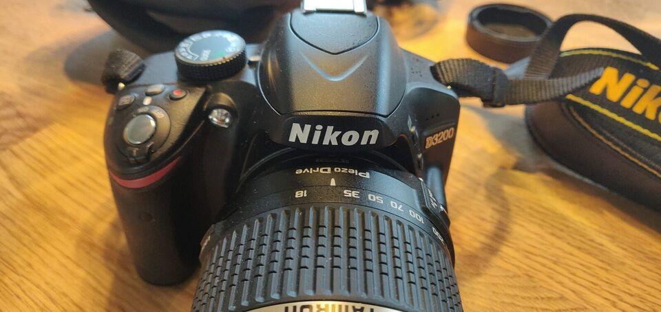 Nikon D3200, spejlrefleks, 24,2 megapixels