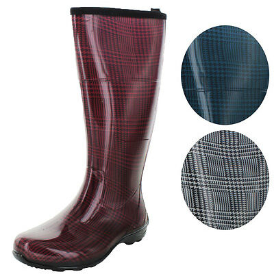 Kamik Checks Women's Waterproof Rain Boots Plaid