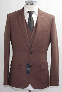 Penguin Luxury Campione 2639 Brown 3pc Men's Suit 38r pRgx4w