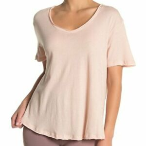 ALO-YOGA-Playa-T-Shirt-Yoga-Pilates-Athleisure-Light-Pink-034-Nectar-034-Small-NWT