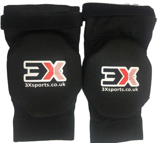 3X Sports Ginocchiere MMA UFC KICK BOXING Schiuma Pad Ginocchio Guard Gym Training Allenamento