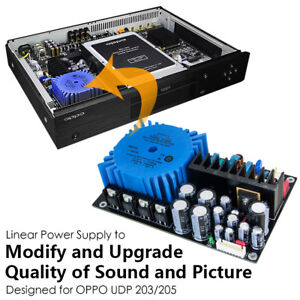 Handmade-Built-in-Linear-Power-Supply-Board-for-OPPO-UDP203-205-Modified-Upgrade